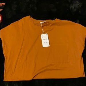 Burnt orange T-shirt dress